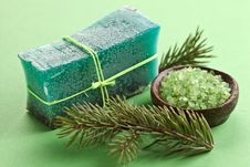 Free Pine Soap With Sea-salt. Royalty Free Stock Photos - 25157688