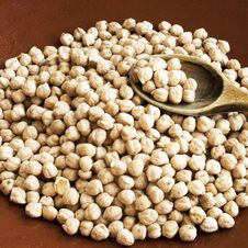 Free Chickpeas With Wooden Spoon Stock Photos - 25158373