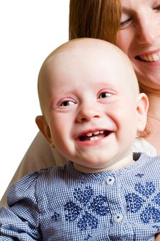 Free Portrait Of The Smiling Child And Mother. Stock Photo - 25158920
