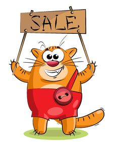 Free Red Cat With A Tablet Stock Photos - 25159003