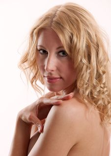 Free Blond Beautiful Woman With Great Hair Royalty Free Stock Image - 25162486