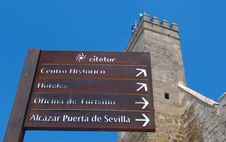 Seville Landmarks Signs. Stock Photo