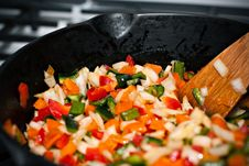 Free Sauteed Bell Peppers Royalty Free Stock Photography - 25163657