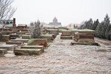 Church Cemetery In Echmiadzin. Armenia Stock Photo