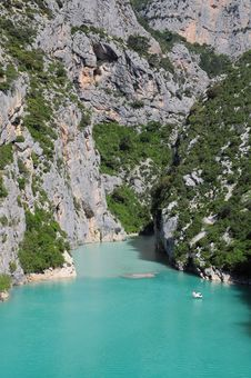 Free Verdon Gorge. Royalty Free Stock Photo - 25166355
