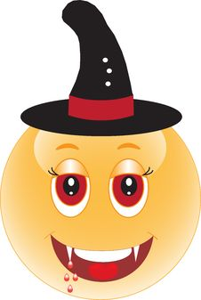 Free Smile. Vampir.Nalloween Royalty Free Stock Images - 25168149