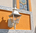 Free White Street Lamp On Colorful Wall Stock Images - 25174344