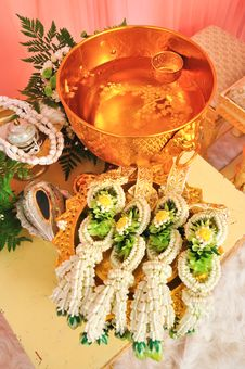 Thai Garland For Thai Wedding Ceremony Royalty Free Stock Image