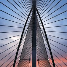 Silver Steel Bridge Stock Photos