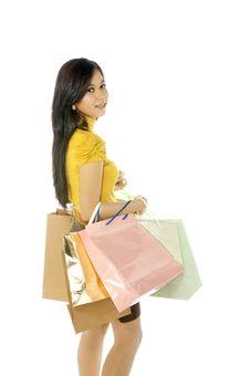 Free Shopping Woman Royalty Free Stock Photos - 25174408