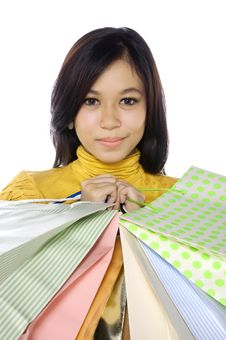 Free Shopping Woman Royalty Free Stock Images - 25174429