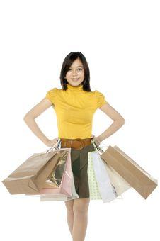 Free Shopping Woman Stock Image - 25174481