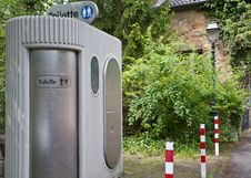 Electronic Public Toilet Stock Photo