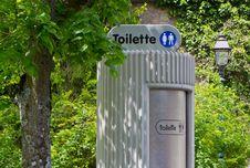 Electronic Public Toilet Stock Image