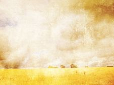 Free Grungy Background With Summer Landscape Stock Photo - 25178360
