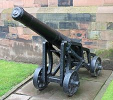 Free Vintage Heavy Cannon. Royalty Free Stock Images - 25182889