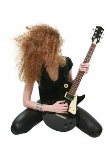 Free Playing The Guitar Stock Images - 25184054