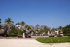 Free Scenery In The Hilton Sanya Resort Royalty Free Stock Images - 25187099