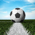 Free Close Up Of Soccer Ball On The Field Stock Photography - 25199682