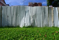 Free Metal Fence Separating Two Neighbours Royalty Free Stock Photos - 25193958