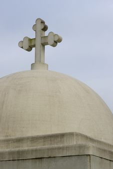 Cement Building Dome Cross Cemetery Northwest Royalty Free Stock Image