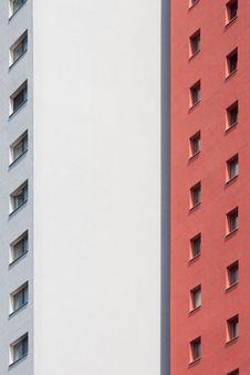 Facade Of A Tower Building Stock Photo