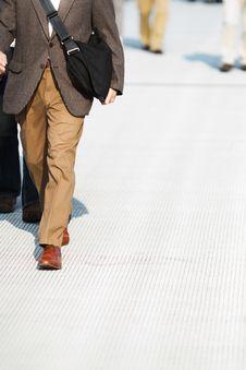 Free Walking Man Stock Image - 25196411