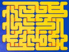 Maze Toy Royalty Free Stock Images