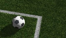 Free Soccer Ball On Green Grass Royalty Free Stock Photography - 25199967