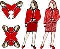 Free Women Illustrations Royalty Free Stock Photos - 2525608