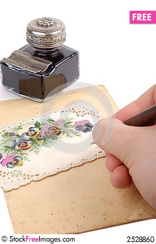 Free Writing Postacard Stock Photo - 2528860
