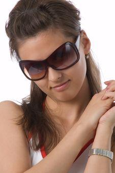 Free The Girl In Dark Glasses Stock Image - 2520131