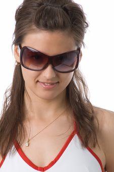 Free The Girl In Dark Glasses Royalty Free Stock Image - 2520136