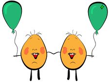 Free Twins With Balloons Royalty Free Stock Photo - 2520175