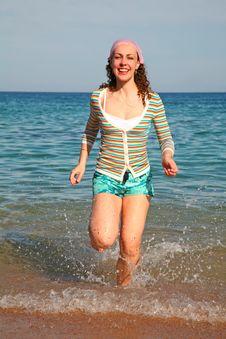 Free Girl On A Beach Stock Photos - 2520383