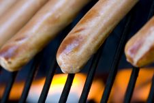 Grilling Hotdogs Royalty Free Stock Photo