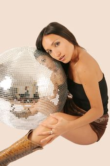 Woman And Discoball