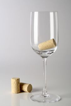 Glass With Corks Stock Photos