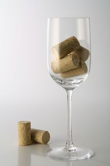 Glass With Corks Stock Photo