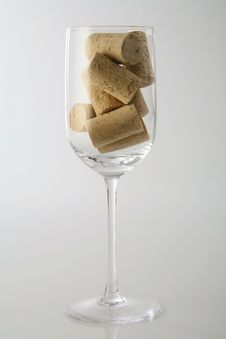Glass With Corks Stock Photography