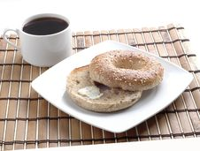 Free Bagel And Coffee Royalty Free Stock Images - 2521699