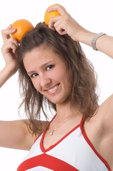 Free The Girl With Oranges Stock Photos - 2522633