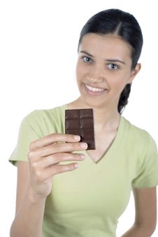 Free Girl With Chocolate Royalty Free Stock Photo - 2523195