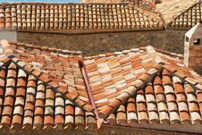 Free Tiled Roofs Royalty Free Stock Photography - 2524537