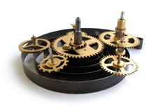 Image Of A Old Clock S Parts