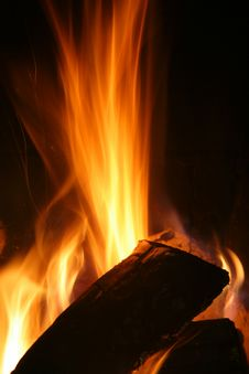 Free High Wood Fire Stock Photography - 2527852