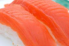 Free Sockeye Salmon Sushi Stock Photo - 2528310