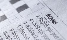 Crossword Puzzle Royalty Free Stock Image