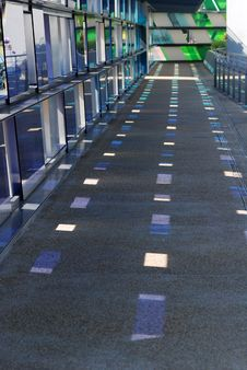 Free Colorful Tinted Glass Walk Way Stock Photo - 2529880