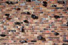 Free Rocky Brick Wall Royalty Free Stock Photography - 25207137